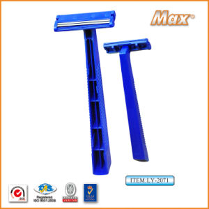 Twin Stainless Steel Blade Disposable Razor Fro Man (LY-2071) pictures & photos