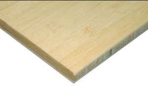 "3/4"" Horizontal Natural 3 Ply Bamboo Plywood pictures & photos"