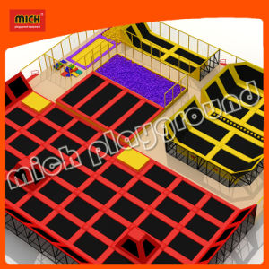 Mini Outdoor Trampoline Park Safety with Handle pictures & photos