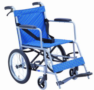 Light Weight with Brake Steel Wheelchair