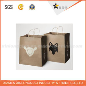 Fancy Luxury Glossy Black Fashion Brand UV Paper Shopping Bag pictures & photos