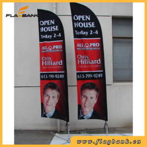 4.5m Exhibition Aluminium Double Side Printing Flying Banner/Feather Flag pictures & photos