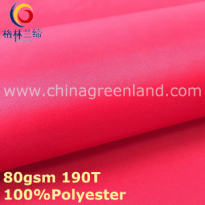 Plain Dyeing Pongee Polyester Taffeta Fabric for Textile Lining (GLLML298) pictures & photos