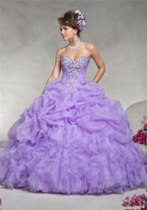 Classic Style Ball Gown Strapless Beaded Prom Dresses, Customized pictures & photos