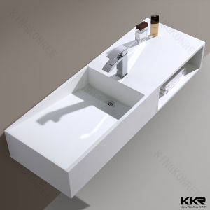 Rectangular Vessel Sink Stone Resin Wash Hand Basin pictures & photos