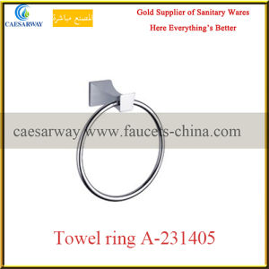 Wholesale Sanitary Ware Bathroom Accessories Chrome Towel Ring pictures & photos