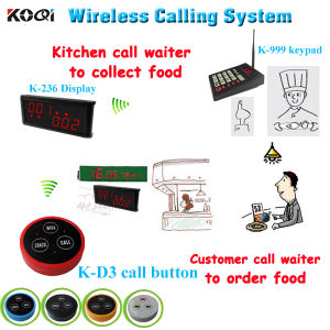 CE Approved 433.92MHz Restaurant Pager Made-in China Wireless Waiter Call System pictures & photos