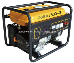 7kw Open Type Three Phase Portable Gasoline Generators (ZGEA7500-3 and ZGEB7500-3) pictures & photos