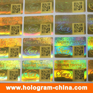 Security 3D Laser Hologram Stickers with Qr Code Printing pictures & photos