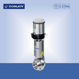 Threaded Ends Pneumatic Butterfly Valve with C-Top Controller pictures & photos