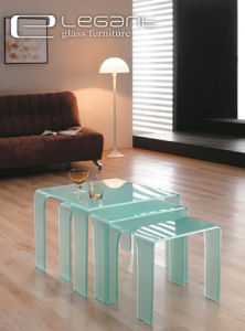 Sandblasting Glass Nesting Table in 2015 pictures & photos