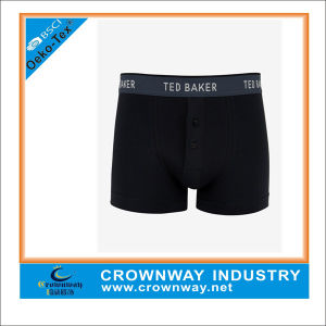 Black Comfortable Breathable Fit Boxers for Men pictures & photos