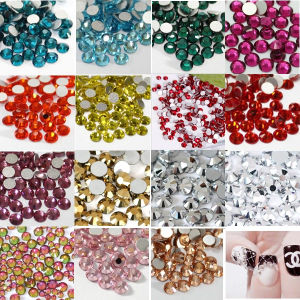 Non-Hot Fix Flat Nail Art Designs with Ruby Nail Art Crystal Stone pictures & photos