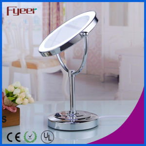 Fyeer Ultra Thin Double Side Cosmetic Table Mirror with LED Light pictures & photos