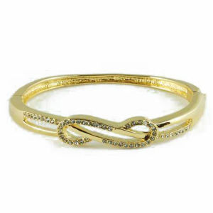 14k Gold Plating Simple Design Fashion Jewelry Bangle (A02618B1W)