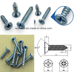 Counter Sunk Head Zinc-Plating Self Tapping Screw pictures & photos