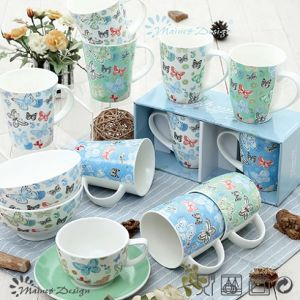 Butterfly Design Ceramic New Bone China Mug pictures & photos
