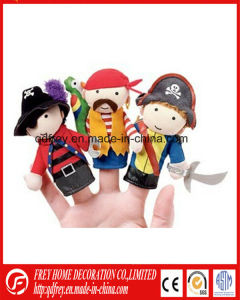 Hot Sale Customized Pirate Plush Doll Finger Puppet Toy