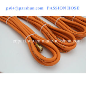 "ISO 3821 1/4"" Inch Working Pressure 20 Bar Orange Rubber Gas Tube pictures & photos"