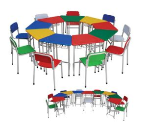 Colorfulchildren Furniture Wooden Table and Chair Set pictures & photos