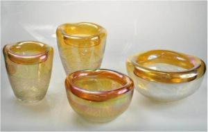 Small Glass Vase Set with Various Color