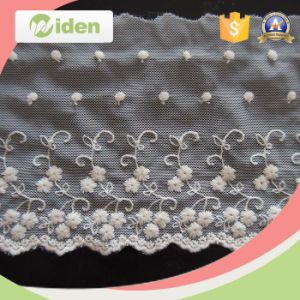 Wholesale Flower Net Lace Rhinestones Cheap Embroidery Applique Lace pictures & photos