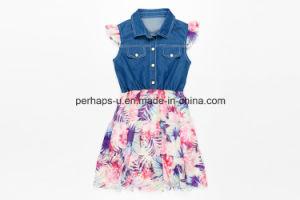 High Quality Girls Dress Denim Jeans Dress Children Wear pictures & photos