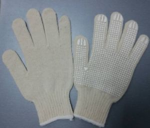 Cotton Gloves Dotted Silicone Rubber Coated Gloves Safety Work Glove pictures & photos