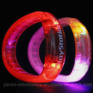 Plastic Flashing LED Bracelet with Logo Print (4011) pictures & photos