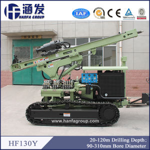 Hf130y Photovoltaic Solar Spiral Pile Rig, DTH Blasting Hole Drilling Rig Manufacturer pictures & photos