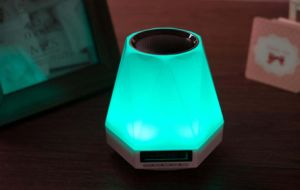 Colorful LED Portable Wireless Bluetooth Mini Speaker with Alarm Clock pictures & photos