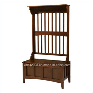 Entryway Wood Coat Rack Room Clothes Rack with CE (G-HT07) pictures & photos