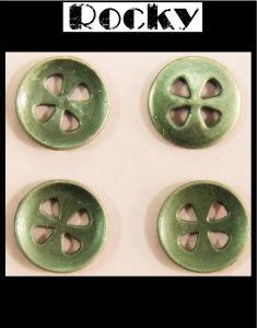 Garment Accessories Flower Holes Zinc Button