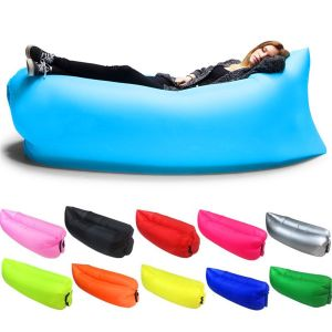 fast inflatable air sofa outdoor camping laybag hiking hangout lounger sleeping bags lazy bag comfortable lazy chair