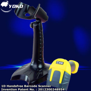 USB Yellow 1d 32bits Laser Hand-Free Barcode Scanner pictures & photos