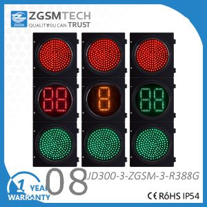 LED Traffic Light Red Green and 2 Digital 3 Colors Countdown 300mm 12 Inch pictures & photos