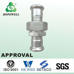 Top Quality Inox Plumbing Sanitary Stainless Steel 304 316 Press Fitting Union Coupling pictures & photos