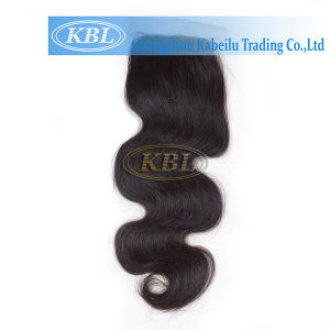 100% Natural Human Hair Bundles Lace Frontal Closure Factory pictures & photos