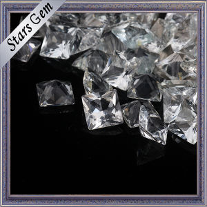 Hot Sale Princess Cut Natural White Topaz pictures & photos