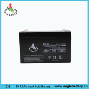 6V 7ah VRLA Rechargeable Sealed Lead Acid Battery for UPS
