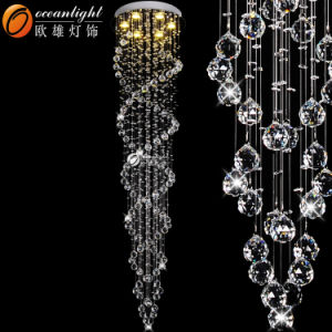 China Restaurant Hanging Wholesale Stairs Crystal Pendant Light Fixtures (OM88505-500) pictures & photos