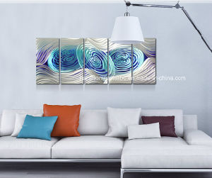 Whirlpool Abstract Aluminum Wall Art for Decor (CHB6015017) pictures & photos