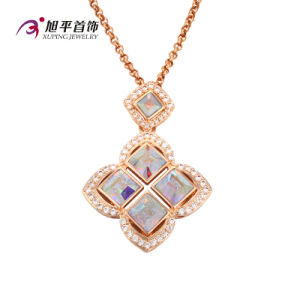 Xuping Fashion Luxury 18k Gold-Plated Square CZ Crystal Pendant (32581) pictures & photos