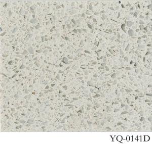 Glass Quartz Stone Countertop (YQ-0141D) pictures & photos