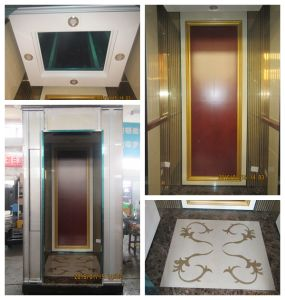 Passenger Elevator Etching Hairline Stainless Steel Lift Cabin pictures & photos