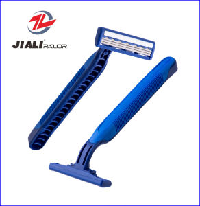 Disposable Razor with Triple Blades in Blister Card pictures & photos