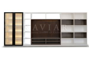 China Innovative Design Lacquer TV Wall System TV Unit (WS108)