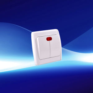 2 Gang European Wall Switch with Indicator (YW21102) pictures & photos