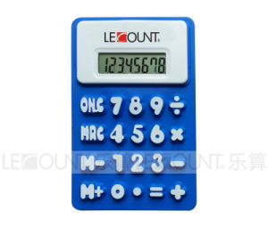 Promotion Gift 8 Digits Foldable Silicon Calculator with Magnet (LC510B) pictures & photos