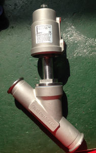 Stainless Steel Pneumatic Angle Seat Valve pictures & photos